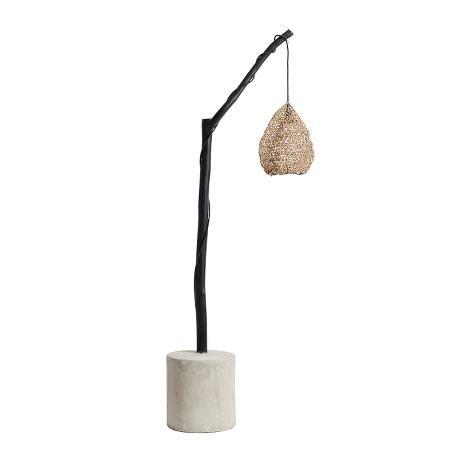 Lamp Ghost Wood/Concrete Sort incl.