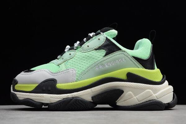76182218615a Balenciaga Triple S Trainer Sneaker Green Volt-Black-Grey Men s and Women s  Size