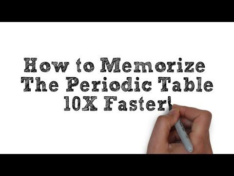 ▶ How To Memorize The Periodic Table - Easiest Way Possible (Video 1) - YouTube CC Cycle 3 Week 16-18