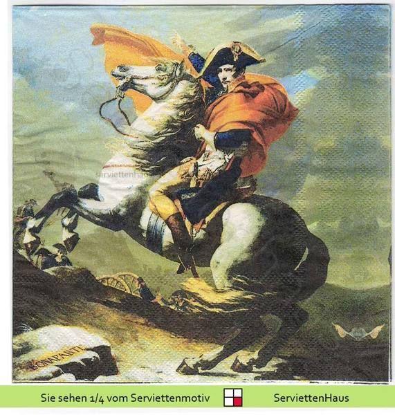 Napoleon Bonaparte - 1 Lunch Serviette von Serviettenhaus auf DaWanda.com