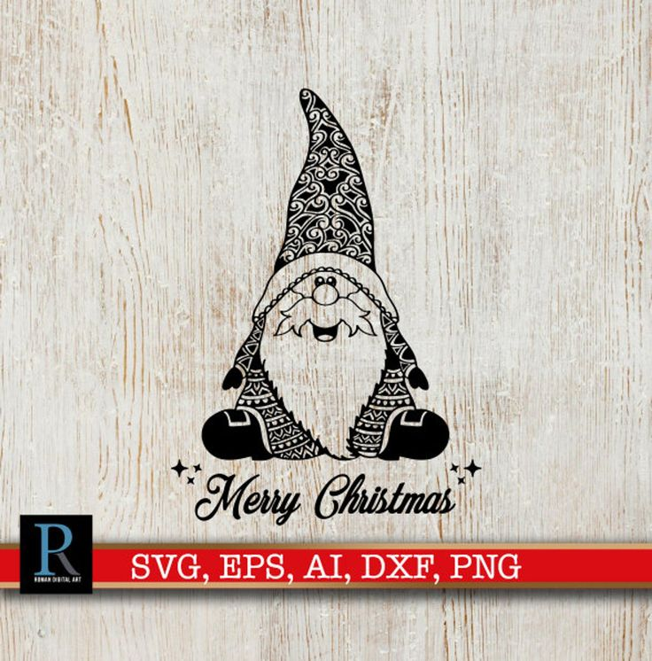 Mandala Santa Gnome SVG Merry Christmas SVG Etsy in 2020
