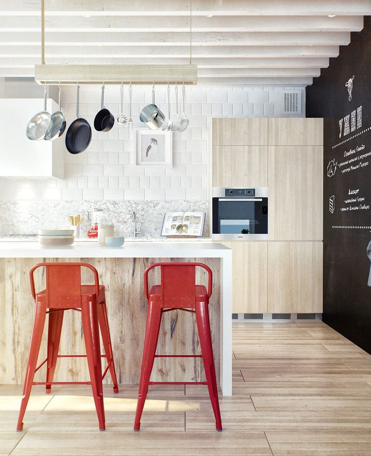 Duplex Penthouse With Scandinavian Aesthetics & Industrial Elements