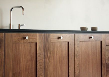 Love the color of walnut for cabinets or flooring and darker cabinets