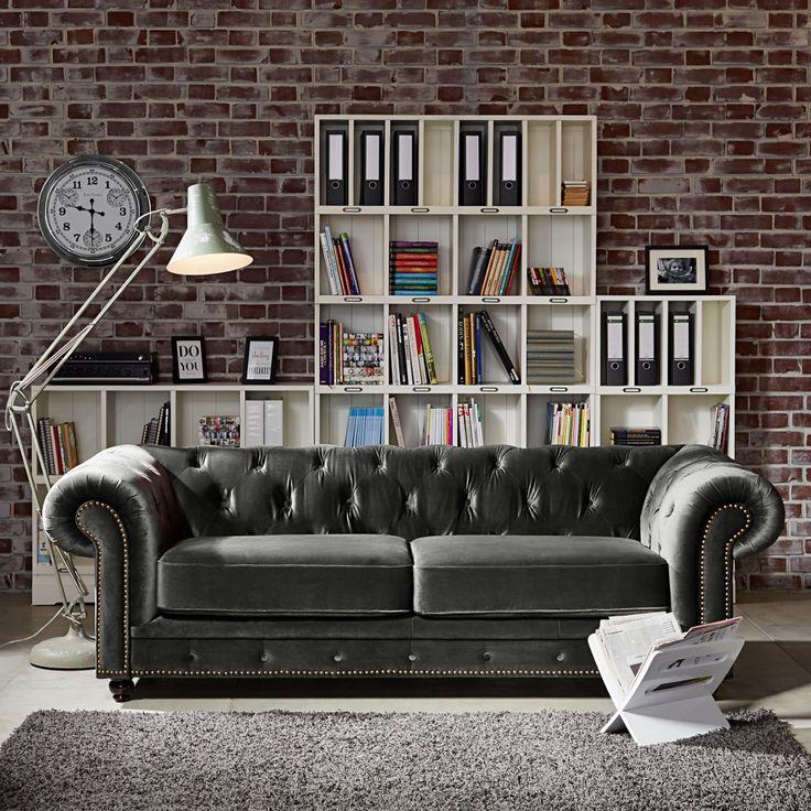 Giant stojanová lampa, retro styl / floor lamp and sofa in retro style