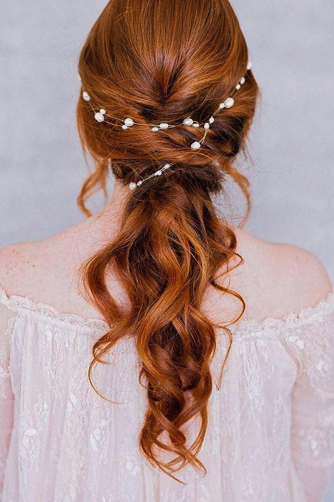 30 Chic And Easy Wedding Guest Hairstyles ❤ wedding guest hairstyles red hair accessory long dananihandmade ❤ See more: http://www.weddingforward.com/wedding-guest-hairstyles/ #weddingforward #wedding #bride #weddingguesthairstyles