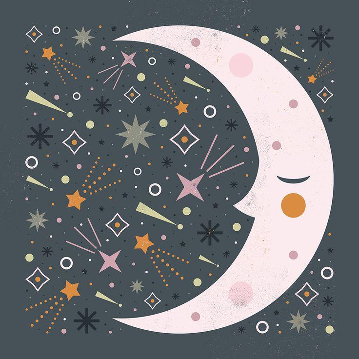 Carly Watts Art & Illustration: Mr Moon