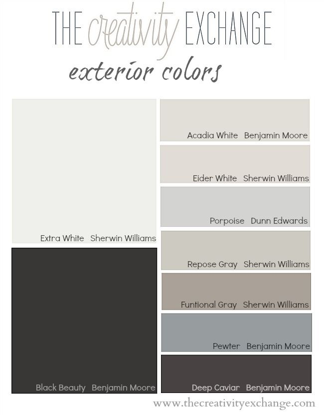 Tips and Tricks for Choosing an Exterior Color Palette {Paint It Monday} The Creativity Exchange