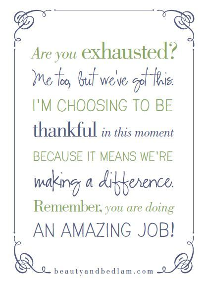 Are you exhausted? Me too, but we've got this. Head over to the blog for words of encouragement, plus print this free reminder. We're in this together. #unity