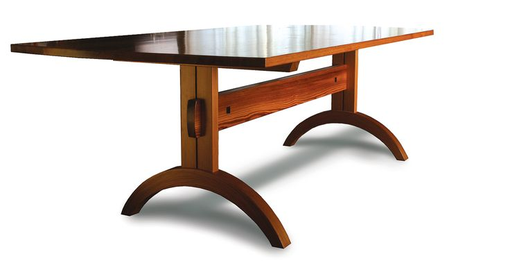 Trestle table | this trestle table is a larger version of the one that ...
