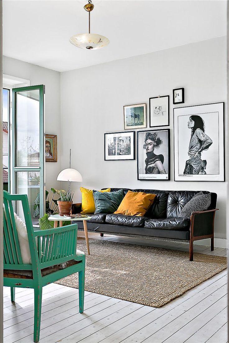 Snyggt vardagsrum med tavelvägg. krukmakargatan 61, 2 tr, högalid ...