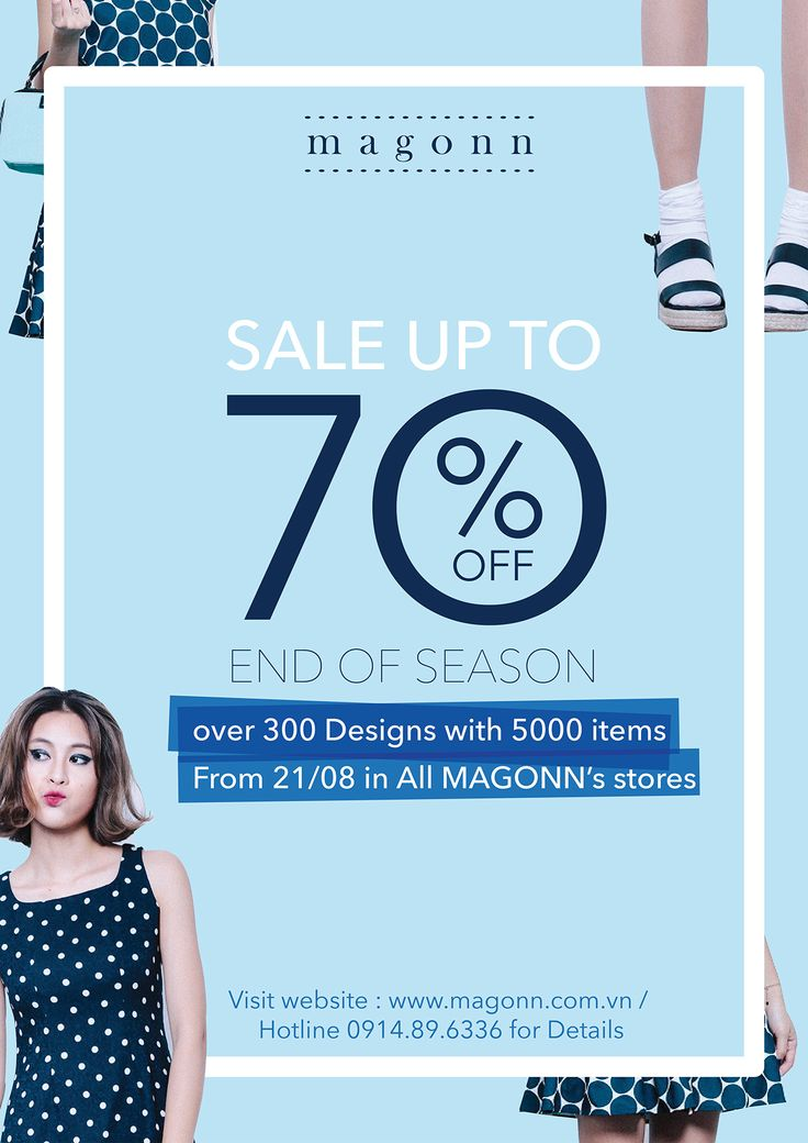 My design for Magonn end of season sale campaign