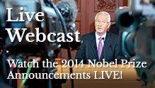 Se uddelingen af nobelpriserne live!