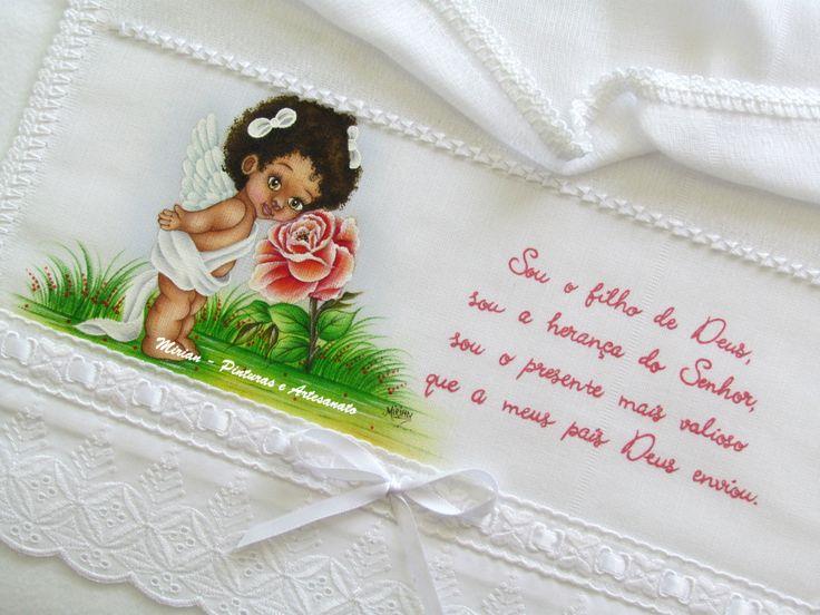 """Fralda de Ombro _ Batizado """"Jade"""""""
