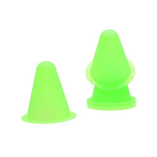 Hot 5Pcs PVC Bright-colored Slalom Cones for Slalom Skating Cone Skating - Green