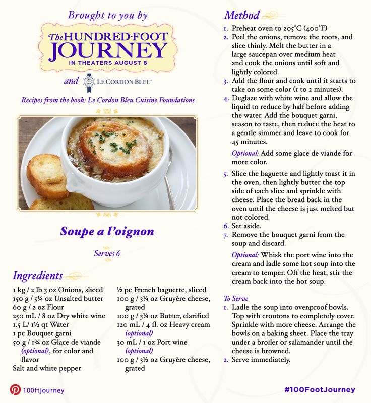 Do you aspire to be a chef like Hassan? Add this Onion Soup recipe inspired by The Hundred-Foot Journey to your cookbook and see the film in UK cinemas September 2014 #FoodieFriday