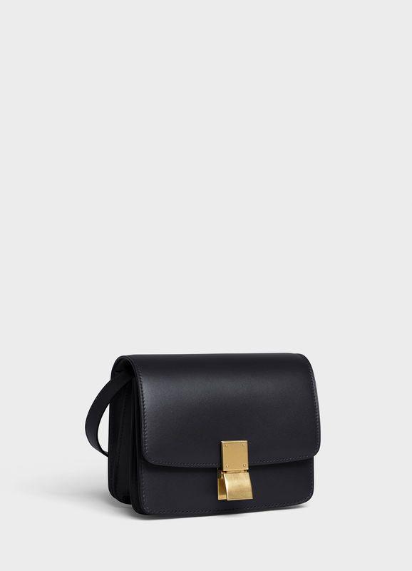 small classic bag in box calfskin
