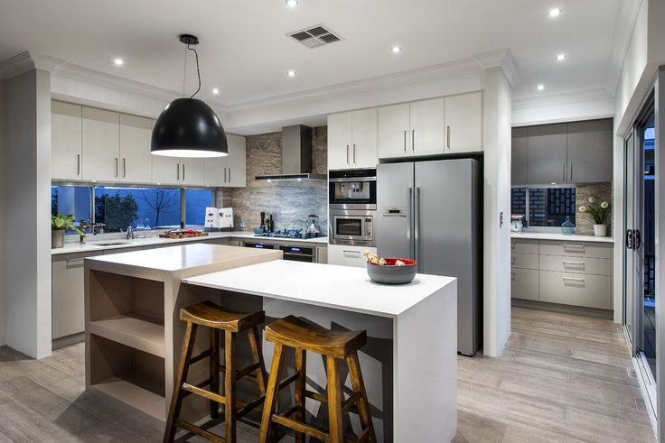We love modern, neutral, beautiful kitchens like this one!