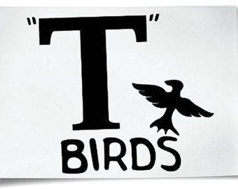 T-Birds Iron On T-Shirt Transfer Grease Jacket T-Bird John Travolta Hen Stag Nights Fancy Dress Costume