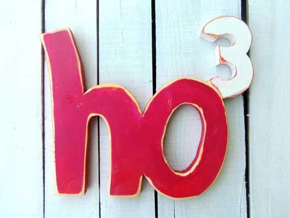 Ho Ho Ho (Ho3) Wall Decor.
