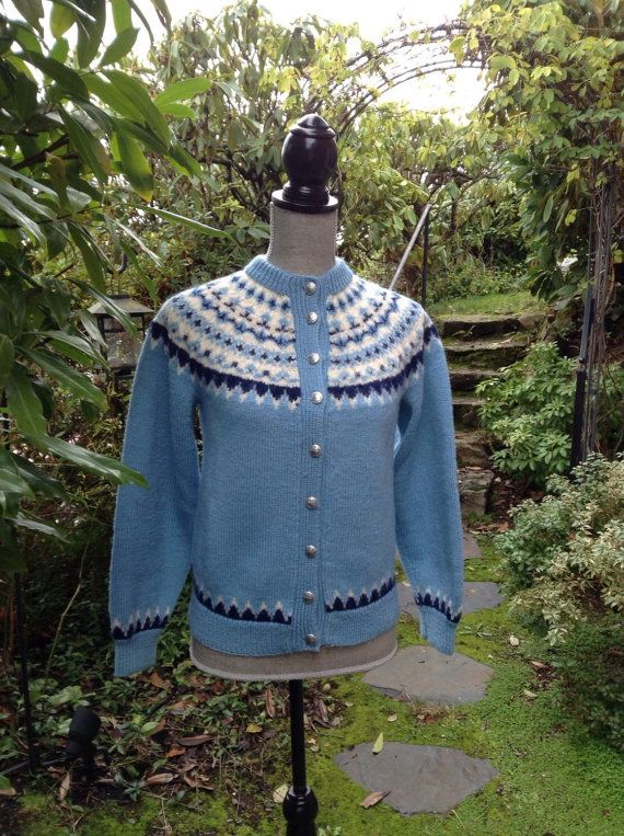 Fair Isle Norwegian wool sweater by Lulle by VikingRaids on Etsy