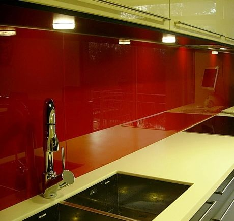 laminated glass backsplash