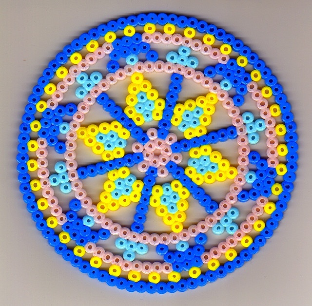 Hama bead design, could be a Rangoli for Diwali