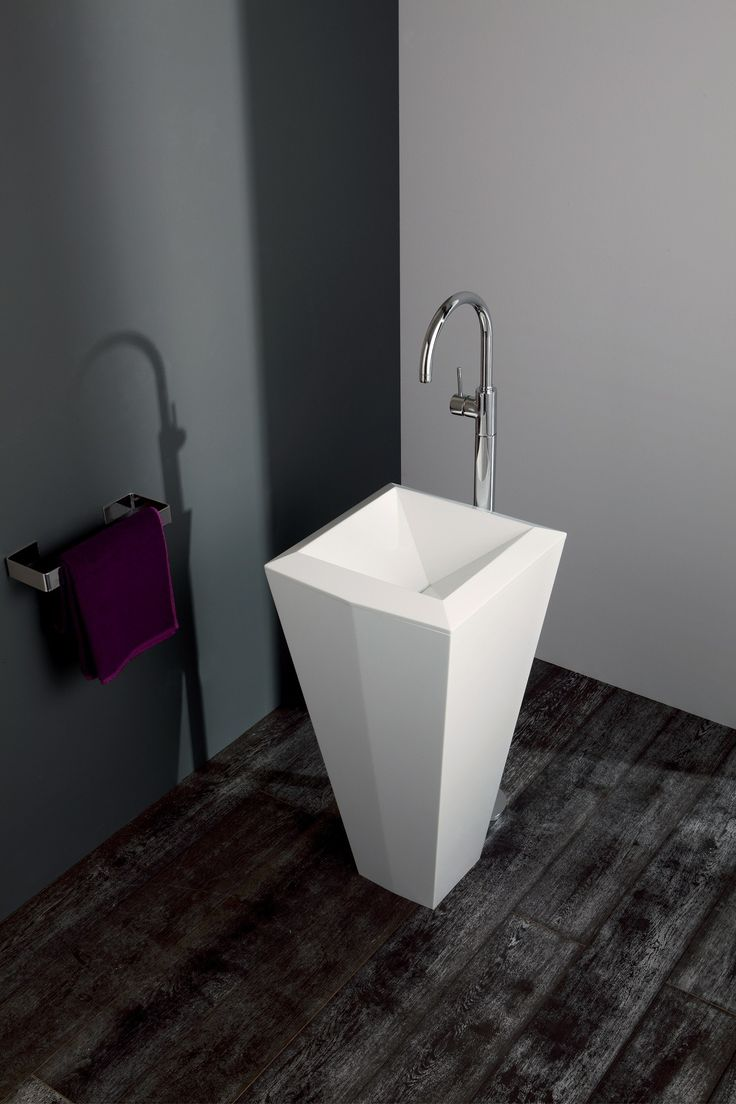 Crystal Freestanding Solid Surface Lavatory
