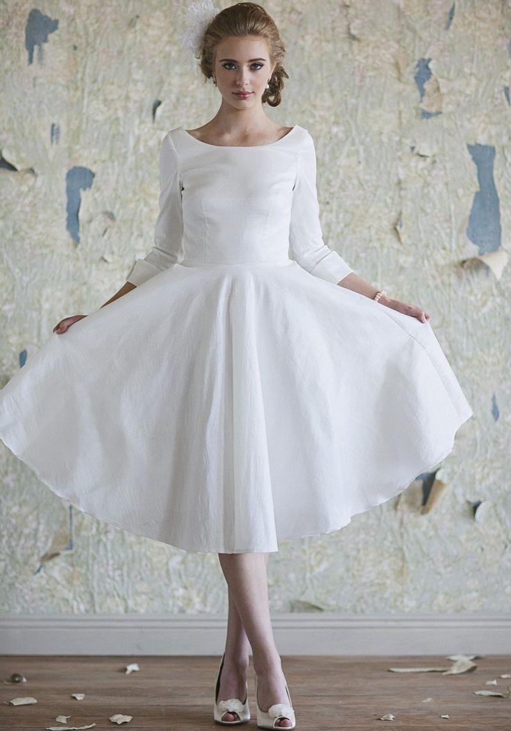 20 best Tea Lenght Wedding Dress images on Pinterest | Short wedding ...