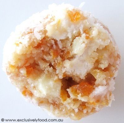 These soft apricot and coconut balls contain crushed peanuts, chunks of fluffy marshmallow, and finely chopped white chocolate. For optimu...