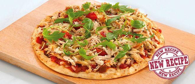 SunPork recipes: Chicken and Pesto Pizzas
