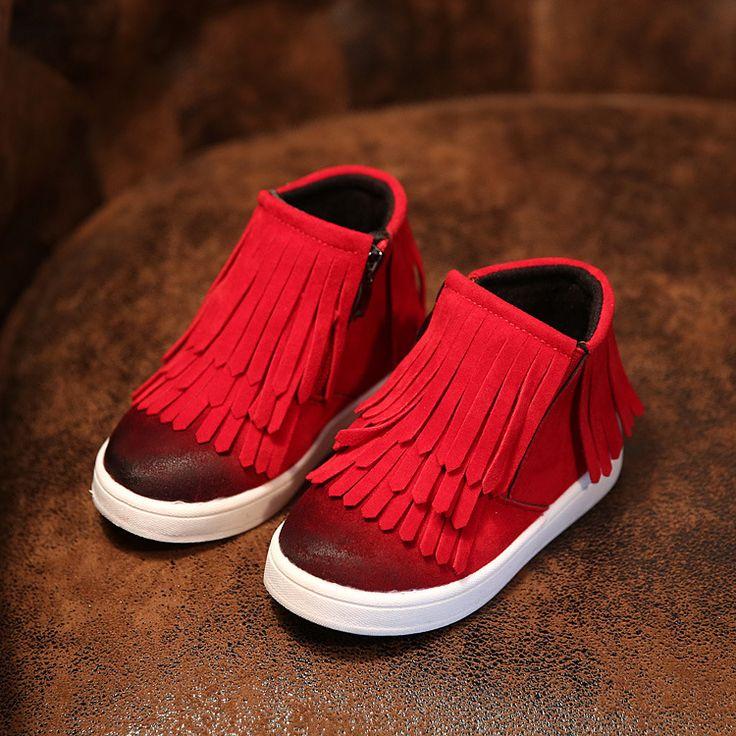 Encontrar Más Botas Información acerca de Hijos planos kdis arranque de moda niños él zapatos size21 36 de botas de invierno para niños niñas franja zapatos, alta calidad botas generador, China botas brillan Proveedores, barato botas de flecos de Happy childhood shoes en Aliexpress.com