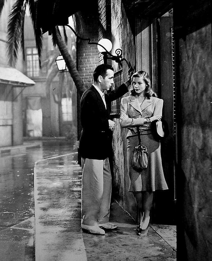 """Bogart & Bacall in """"The Big Sleep"""" (1946) Howard Hawks"""