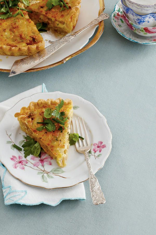 Flat-leaf parsley, chives, and mint add a fresh, pretty finish to this tasty dish.  Recipe:Caramelized Onion Quiche