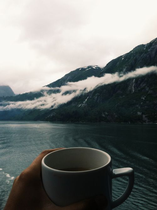 Two of my favourites. Coffee and mountains