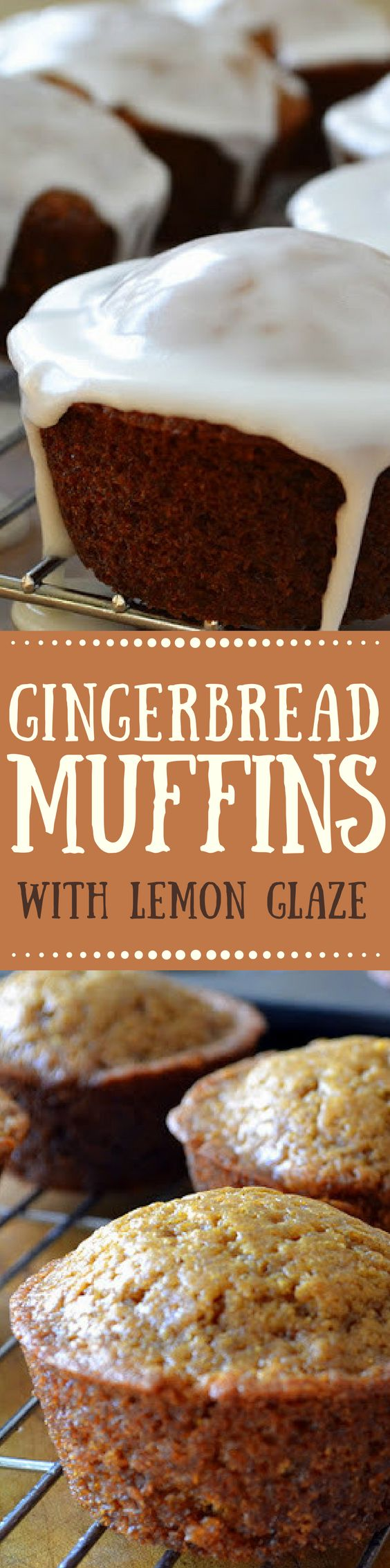 Gingerbread Muffins with Lemon Glaze ~ the perfect combination for a fall morning! ~ theviewfromgreatisland.com