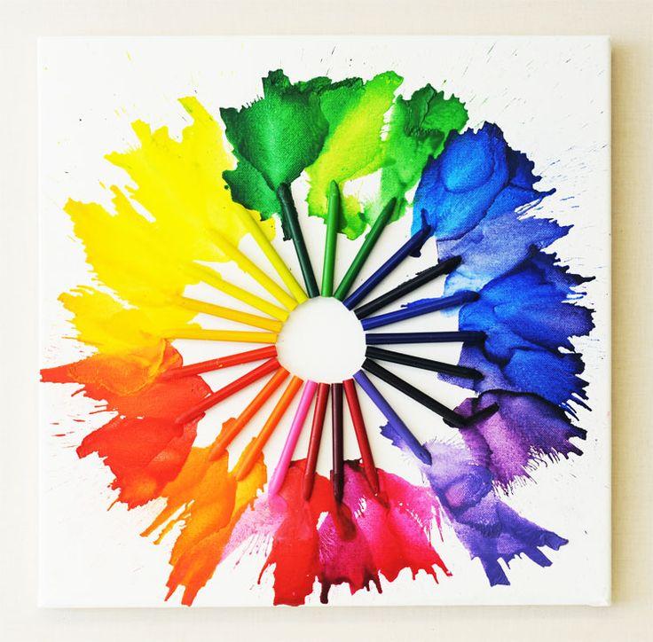 How to Create Melted Crayon Art via @Ben Franklin Crafts & Frame Shop