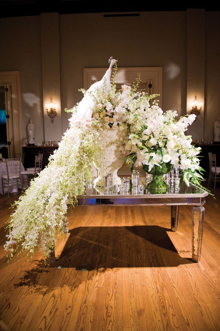 This White Wedding Peacock Decoration Is Unbelievable Photo By Ace Cuervo Photography