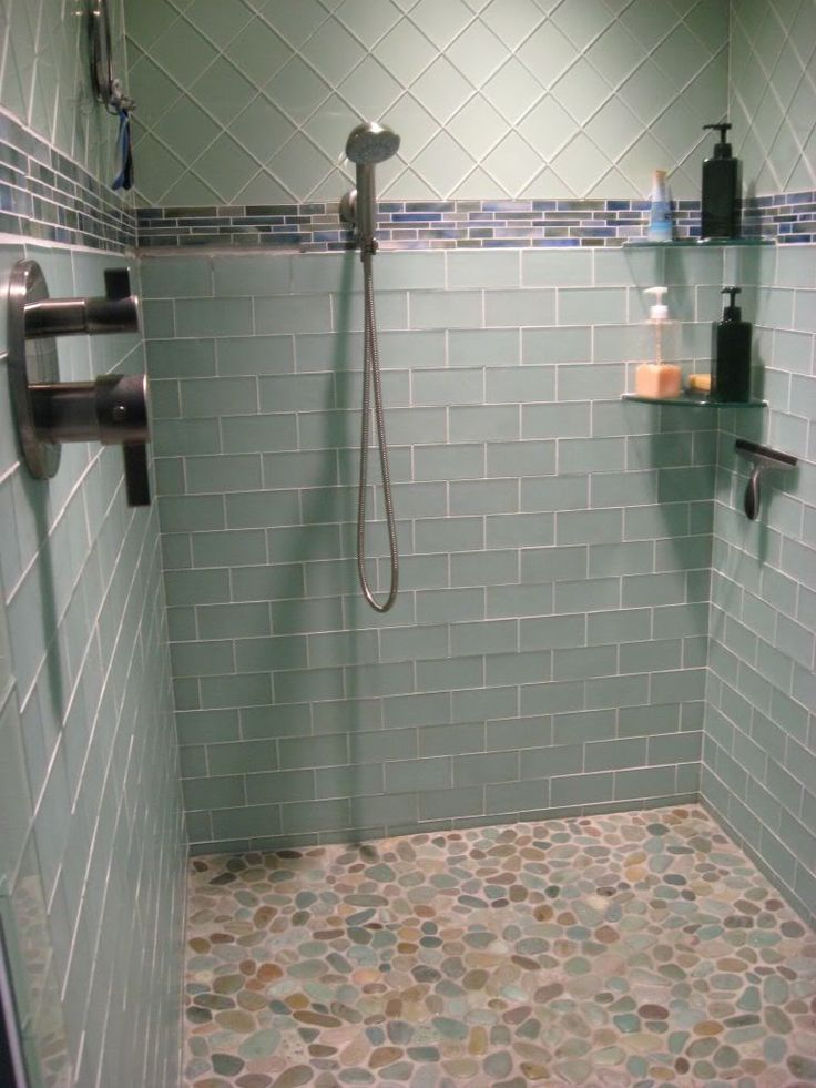 Simple Bathroom Shower Glass Tile Ideas How To Keep Intended Design