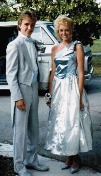 Metallic 80s Prom Dress - with dyed shoes!!  Who else wore a metallic prom dress in the 80s? http://www.liketotally80s.com/2015/04/80s-prom-dress/