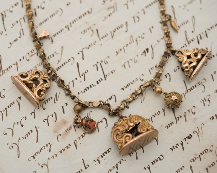 Victorian Gold-Filled Fob Charm Necklace