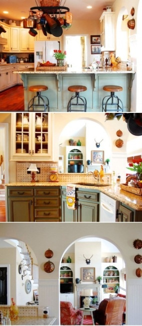 French country kitchen meets southern farmhouse style in for French country green kitchen