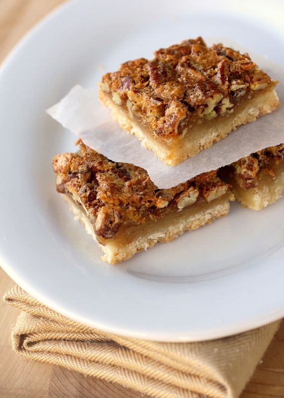 Pecan Pie Bars - The Girl Who Ate Everything. Just use gluten free pie crust. The filling is all gf :)