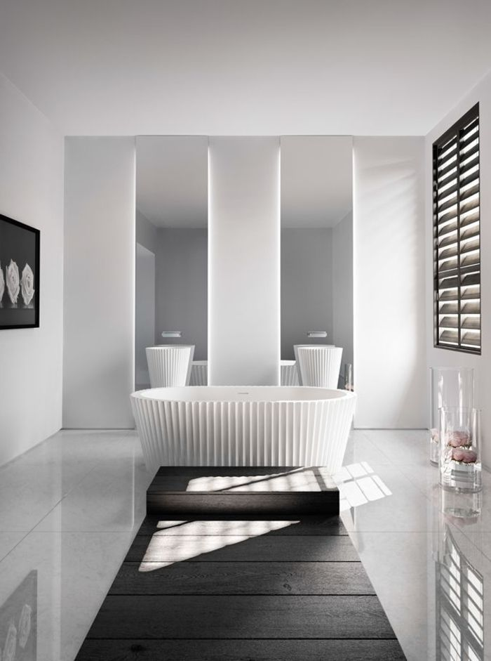 Relooker une salle de bain 42 id es en photos photos for Relooker salle de bain