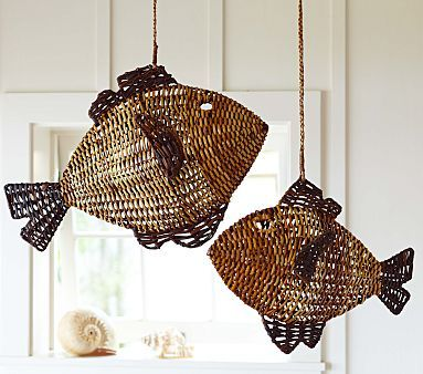 I love the Woven Fish Hanging Decor on potterybarnkids.com