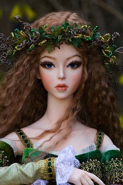 """Brygid of the Wildwood"" doll ~ Celtic Goddess of Inspiration and Healing"
