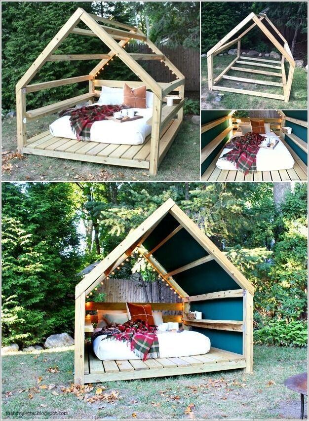 Eine Lounge im Freien kann nach der Arbeit den ganzen Tag großartig sein. Und w