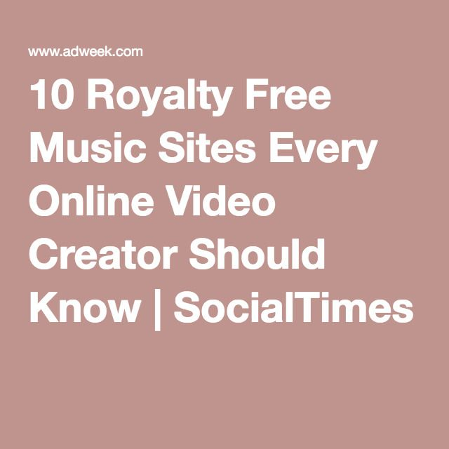 10 Royalty Free Music Sites Every Online Video Creator Should Know | SocialTimes