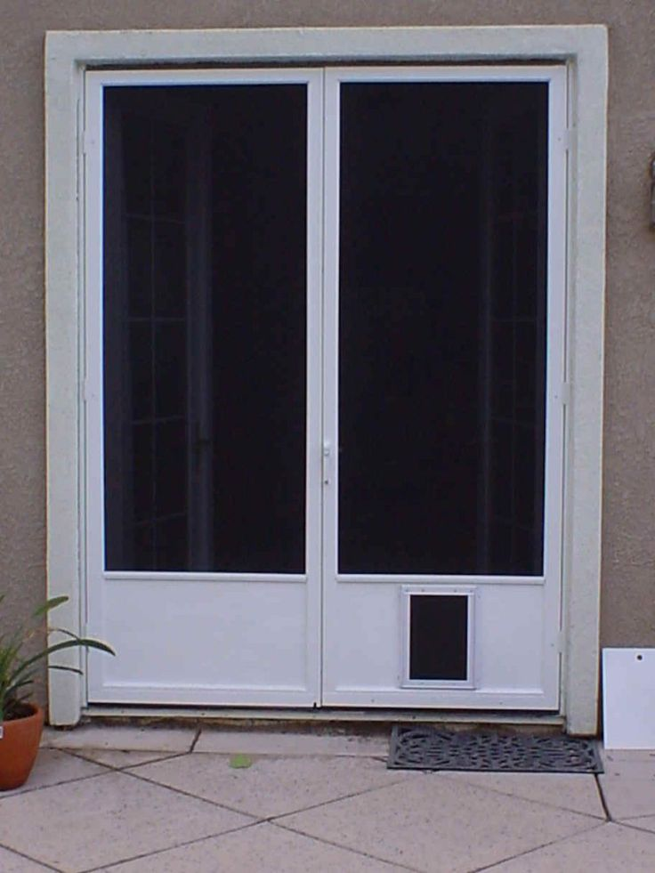 Best 25 french doors with screens ideas on pinterest for Double storm doors for french doors
