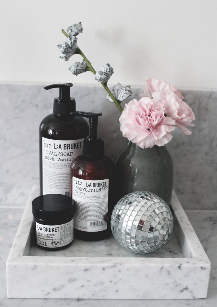 Vi på Skanska Nya Hem gillar badrumsprodukter från L:a Bruket //Skanska Nya Hem