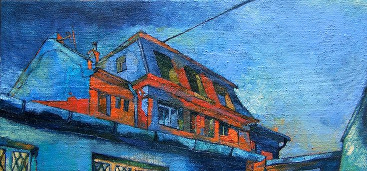 Papageorgiu Andrea  'Familiar rooftops'  2009  Oil on canvas